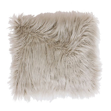 Thro by Marlo Lorenz Keller Faux Mongolian Square Throw Pillow | Overstock.com Shopping - The Best Deals on Throw Pillows