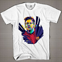 Leonel Messi WPAP  Mens and Women T-Shirt Available Color Black And White