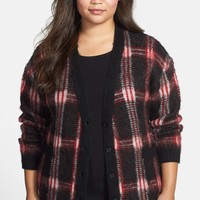 MICHAEL Michael Kors | Plaid V-Neck Cardigan (Plus Size) | Nordstrom Rack