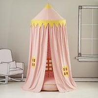 Kids Canopy: Pink Polka Dot Play Circus Tent in Imaginary Play | The Land of Nod