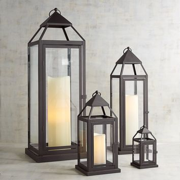 Landen Black Metal Lanterns
