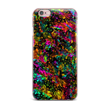 "Ebi Emporium ""Prismatic Posy IV"" Rainbow Floral iPhone Case"