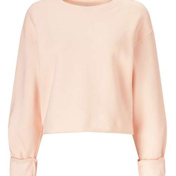 Nude Cropped Sweatshirt