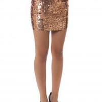 SKIRT MINI SEQUINS STRETCH