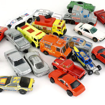 Toy Car Lot, Found Objects, Art Supplies, Craft Supplies