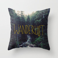 Wanderlust II Throw Pillow by Leah Flores | Society6