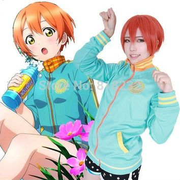 LoveLive! Love Live Hoshizora Rin Hoody Hoodie Sports Wear Coat Jacket Suit School Uniform Anime Cosplay Costumes