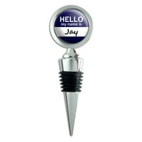 Jay Hello My Name Is Wine Bottle Stopper