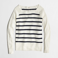 Factory warmspun waffle sweater in stripe : crewnecks & boatnecks | J.Crew Factory