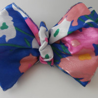 Handmade Hair Barrette Clip Bow Multicolor Blue, Orange, Pink, White, Casual or Dressy Wear