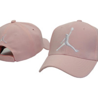 Fashion Pink Cotton Jordan Baseball Golf Sports Cap Hat