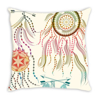 Boho Dream Catcher throw pillow cover