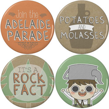 "Over the Garden Wall Greg 2.25"" Pinback Buttons or Magnets (4 Pack)"