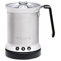 KRUPS XL2000 Electric Milk Frother for Cappuccino Latte and Hot Milk, 0.3-Quart, Silver