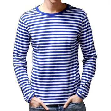 Slim Fit Sailor's Striped Shirt Long-Sleeved T-shirt