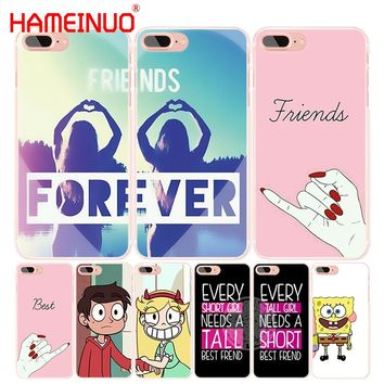 HAMEINUO best friend forever lovers couple cell phone Cover case for iphone 4 4s 5 5s SE 5c 6 6s 7 8 X plus