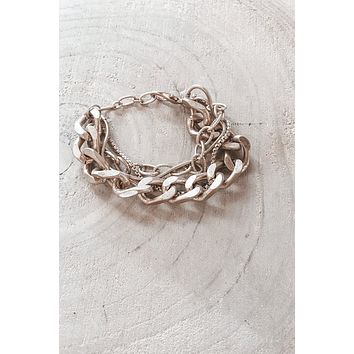 What Goes Around Comes Around Gold Chain Bracelet