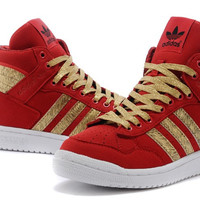 Adidas Mens PRO CONFERENCE HI Red Trainers