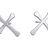 Cross Earrings -Sterling Silver, post Earrings, Bridesmaid Earrings, stud Earrings, post earrings