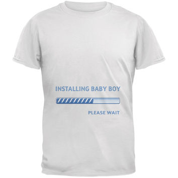 Installing Baby Boy Funny White Adult T-Shirt
