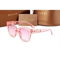 GUCCI 2018 trendy men and women elegant high quality polarized sunglasses F-ANMYJ-BCYJ Pink