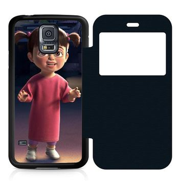 Monsters Inc Boo Fun Leather Wallet Flip Case Samsung Galaxy S5