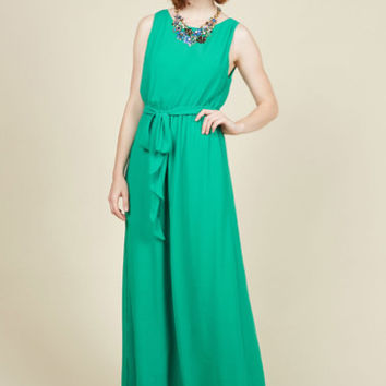 You're Flowing Places Dress in Jade