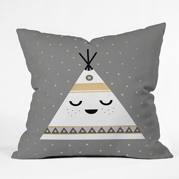 Elisabeth Fredriksson Little Tipi Throw Pillow