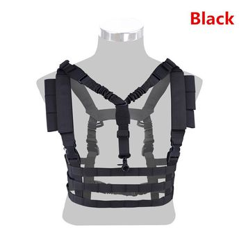 Military Tactical Molle Vest Ammo Chest Rig Removable Gun Sling Hunting Airsoft Paintball police CS out games Gear