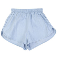 Denim Training Shorts with Elastic Waistband