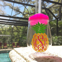 Monogram Pineapple BEV2GO Tumbler