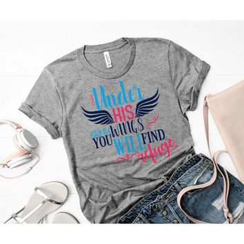 Under His Wings You Will Find Refuge svg,Christian svg,Tshirt svg,Bible Sayings svg,Christian svg,Cricut Designs,Silhouette Designs