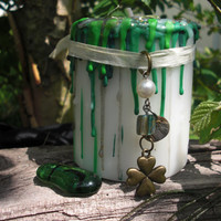 GOOD LUCK SPELL Candle 3 Free Lucky Spells, Good Luck Talisman Charm,  White Magick, Reverse Bad Luck