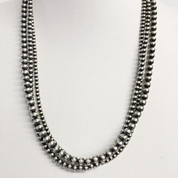 Sunwest Jewelry~Small 3 Strand Navajo Pearl Beaded Necklace