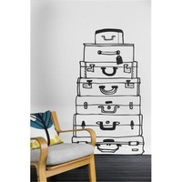 Suitcases Wall Decal | Home Living | SkyMall