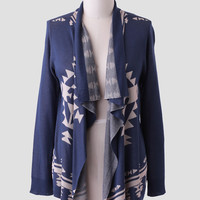 Annabelle Curvy Plus Cardigan In Navy