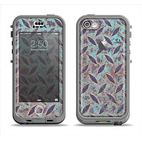 The Rusted Blue Diamond Plate Apple iPhone 5c LifeProof Nuud Case Skin Set
