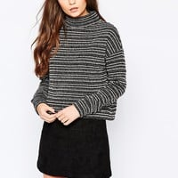 New Look High Neck Oversized Top