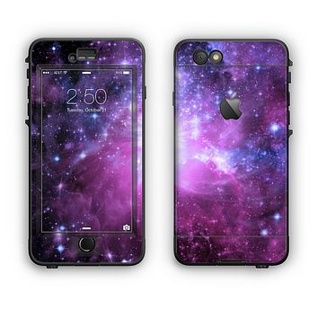 The Violet Glowing Nebula Apple iPhone 6 LifeProof Nuud Case Skin Set