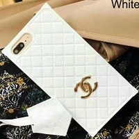 Chanel iPhone6plus Luxury Apple Mobile Shell iPhone7 Soft Case F-OF-SJK white