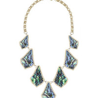 Kensey Abalone Bib Necklace
