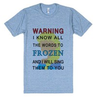 words to frozen athletic tee-totesadorbs-Athletic Blue T-Shirt