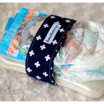 Navy Swiss Cross Baby Diaper strap, Baby boy, baby shower gift, diaper bag, diaper straps boy