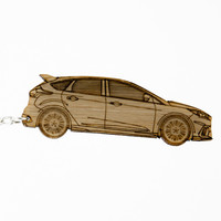 Ford Focus RS Bamboo Keychain