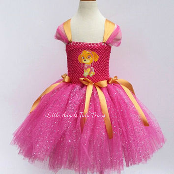 NEW STYLE Paw Patrol Skye Tutu Dress. Paw Patrol Tutu Dress. Inspired Handmade Dress. Paw Patrol Skye Costume Fancy Dress. Birthday Party