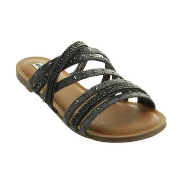 Not Rated Caviar Sandals - Black