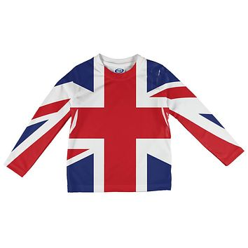 British Flag Union Jack All Over Infant Long Sleeve T Shirt