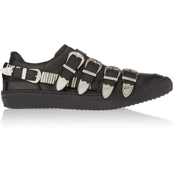 Toga - Pulla buckled leather sneakers