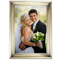 Lawrence Frames Brushed Brass 5 by 7 Metal Picture Frame