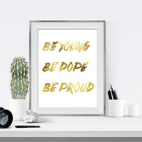 Lana Del Rey Quotes, Gold Foil Print, Lana Del Rey Lyrics, Gold Foil, Lyrics Print, Lana Del Rey, Gold print, printable quotes, gallery wall